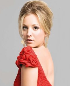 kaley-cuoco-in-red-gown