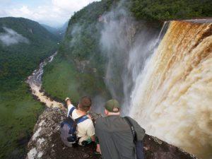 people-enjoying-kaieteur-falls