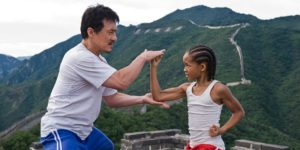 "Jackie Chan as ""Mr. Han"" and Jaden Smith as ""Dre Parker"" in Columbia Pictures' THE KARATE KID."